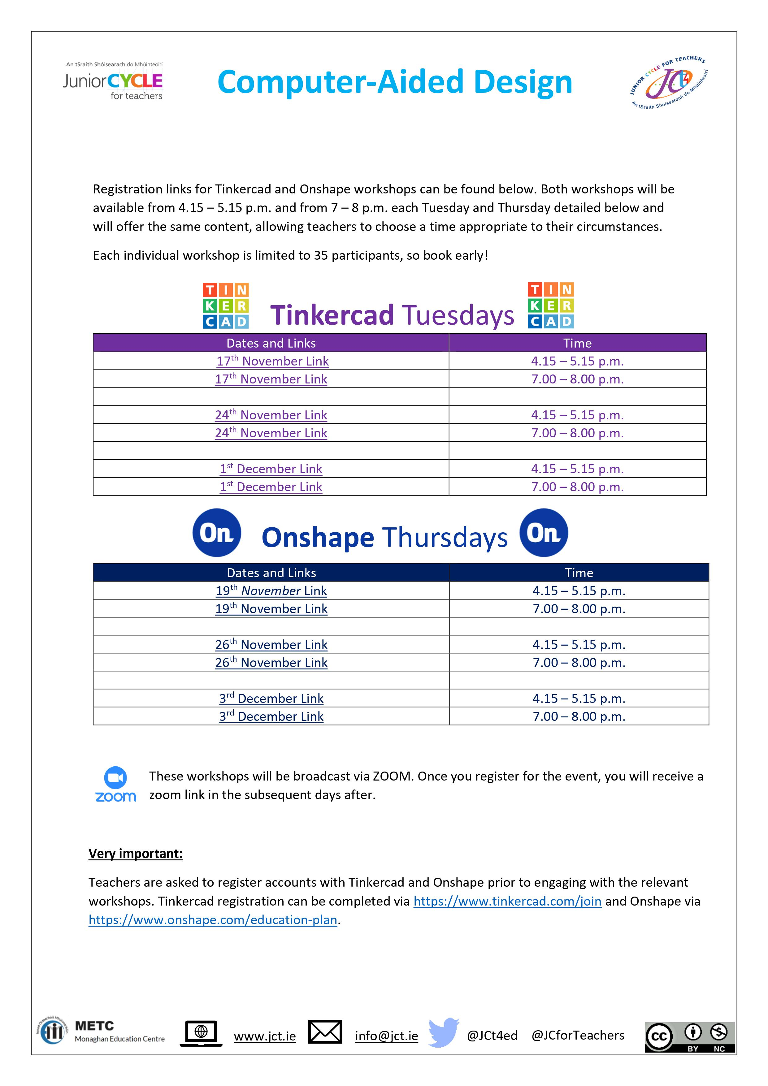 Tinker Cad Tuesdays